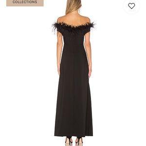 LPA Dresses - Revolve LPA 626 Gown Feather Prom Dress